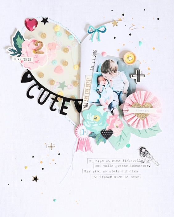 8.5 X 11 SCRAPBOOK LAYOUT ~ Such a cute photo.