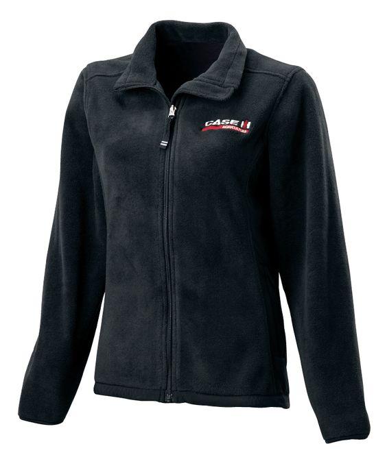 Ladies Case IH Logo Black Full Zip Fleece Jacket | Womens Case IH