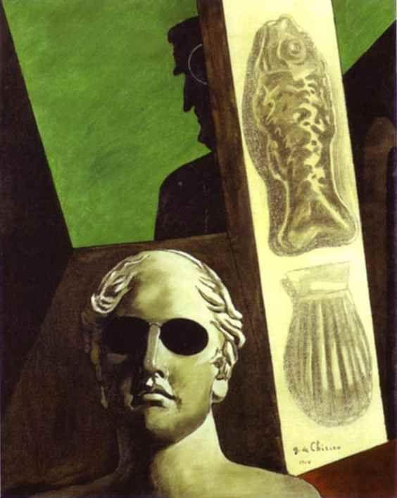 Ritratto premonitore di Guillaume Apollinaire, Giorgio de Chirico