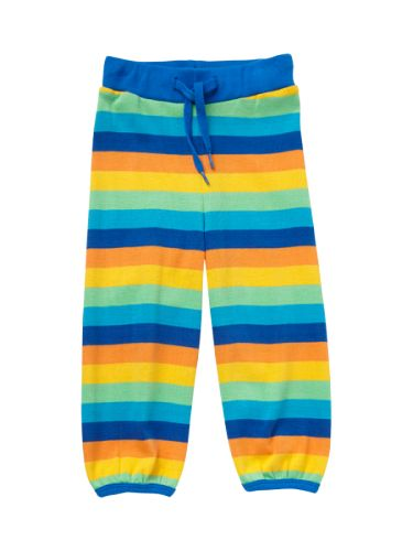 Ej sikke lej, stripete Økologiske bomull bukser i farverike ej sikke lej striper. GOTS certificeret. 100 % bomull Ej sikke lej gjør det enda morsommere å være barnMine damer ogherrer, barn ogbarn i sjelen, velkommen tilej sikke lejs glade og eventyrlige verden.Ej sikke lej ble stiftet i 2004, med den iøyenfallende uglen som logo. Ej sikke lej utmerket seg raskt på den nye danske barnescene med morsomme farverike prints samt lekende og kreativt barnetøy, som tok utgangspunkt i fu...