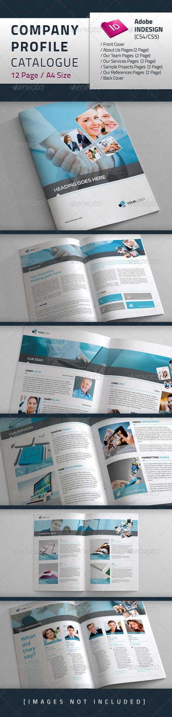 Company Profile Catalogue | Fonts, Creative and Colors
