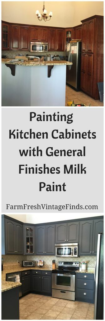 painting kitchen cabinets with general finishes milk paint farm fresh vintage finds bloggers. Black Bedroom Furniture Sets. Home Design Ideas