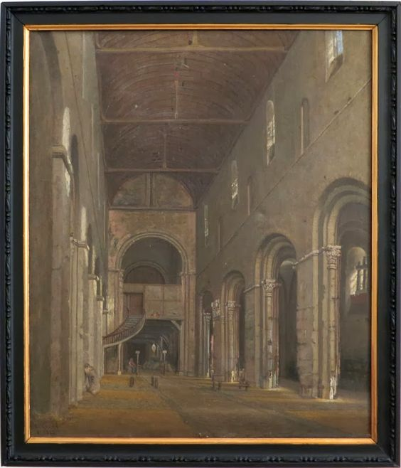 François Escalard : Intérieur de la halle de Bernay (1877).  Peintures des Musées de France: BERNAY