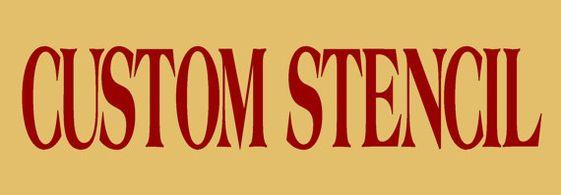 Custom Stencil 11x20 - Clear 5Mil Mylar - Create Your Own Stencil via Etsy