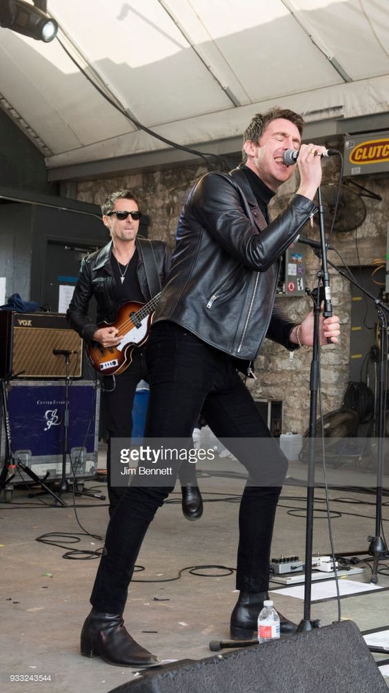 Dr. Pepper's Jaded Hearts Club Band featuring Matt Bellamy (L) and Miles Kane perform live on stage at Rachael Ray's Feedback Party during SXSW on March 17, 2018 in Austin, Texas.  (Photo by Jim Bennett/WireImage)