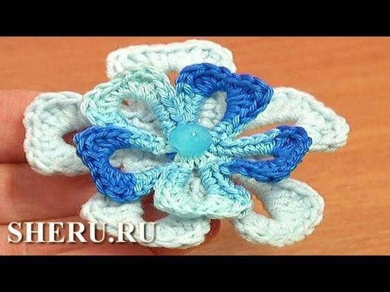 Free Crochet Flower Patterns Урок 74 Вязаный цветок
