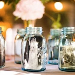 Woah! This is really cool! 12 Killer Mason Jar Wedding Ideas (photo: jessamyn harris)