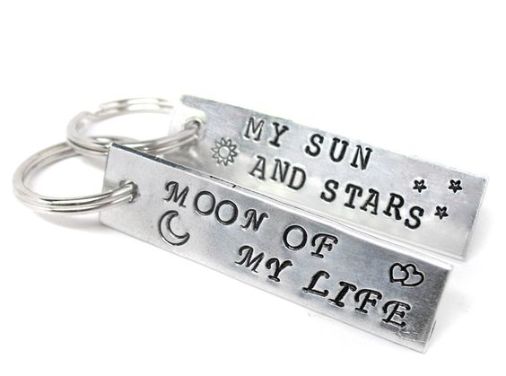 Danaerys and Drogo - My Sun and Stars, Moon of my Life - Hand Stamped Aluminum Keychains, Game of Thrones Inspired