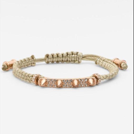 Vince Camuto macrame bracelet - flash sale Brand new. Gold/light olive green. Vince Camuto Jewelry Bracelets