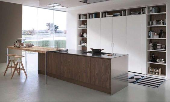 Arredare una cucina con isola - Cucina moderna con isola e piano
