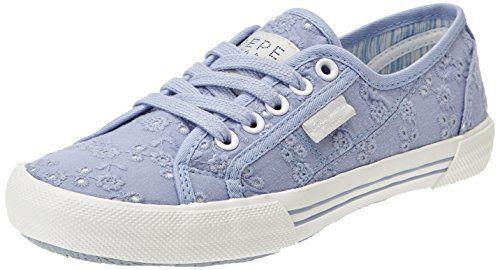 Pepe Jeans London Womens ABERLADY ANGLAISE Low-Top Sneaker Blue Blau (500PACIFICBLUE) Size: 5 Pepe Jeans http://www.amazon.co.uk/dp/B00P116Z84/ref=cm_sw_r_pi_dp_Cehavb1ZHQ2NZ