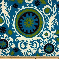 {fabric.com} Premier Prints Indoor/Outdoor Suzani Blue Moon   Our Price: $8.98 per Yard   Compare At: $13.99 per Yard