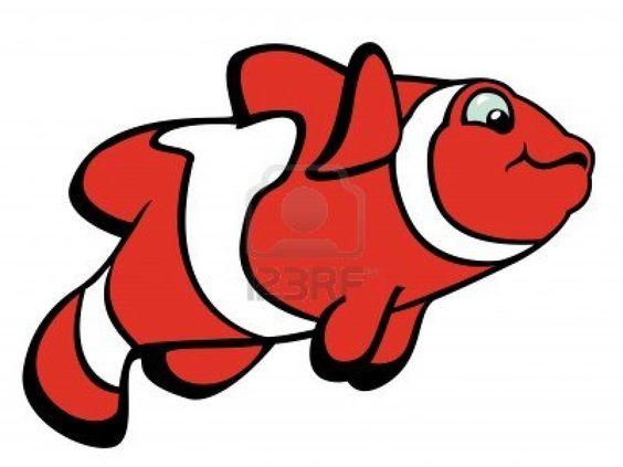clown fish,cartoon image isolated on white background,vector illustration Stock Photo - 17272628