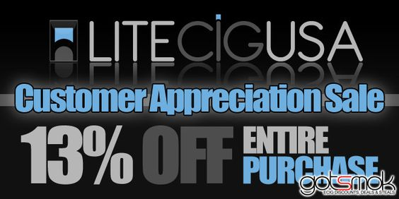 I just got the 411 on the LiteCigUSA Customer Appreciation sale. To make it short & sweet... use the coupon code... http://gotsmok.com
