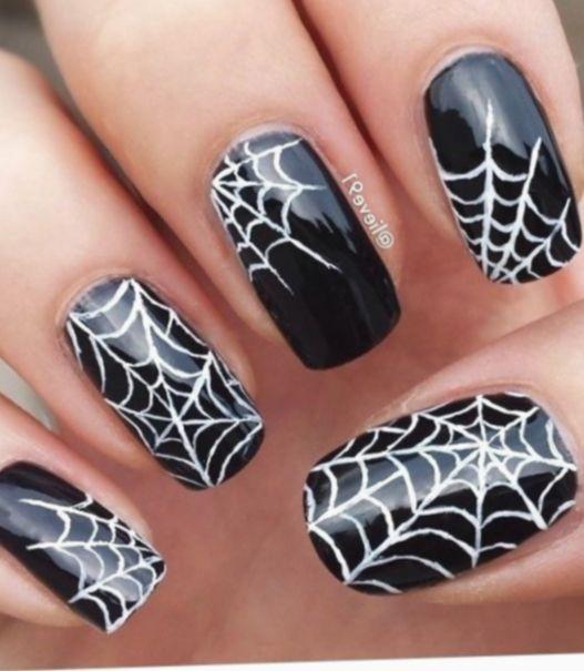 Halloween Nails Ideas Spider Webs Wreath Memes Scary Halloween Nails Halloween Nails Diy Cute Halloween Nails