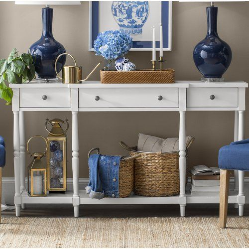 Millwood Pines Lanford Console Table Reviews Wayfair Console Table Wood Console Table Sofa Table Decor