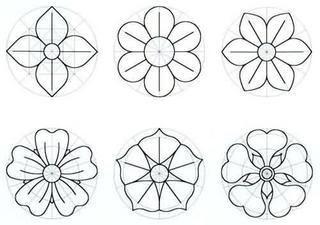 Moldes de Flores - distintos tipos de flores