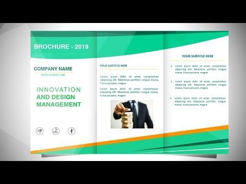 How To Make A Brochure In Powerpoint Design 4 Youtube How To Make Brochure Powerpoint Design Infographic Marketing