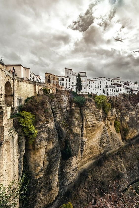 Ronda's unreal mountain top city in Spain's Malaga province. Click through to see 27 of the most beautiful villages in the world!