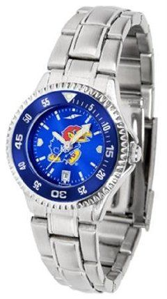 Kansas Jayhawks KU NCAA Womens Steel Anochrome Watch by SunTime. $86.95. Showcase the hottest design in watches today! The functional rotating bezel is color-coordinated to compliment your favorite team logo. The Competitor Steel utilizes an attractive and secure stainless steel band.The AnoChrome dial option increases the visual impact of any watch with a stunning radial reflection similar to that of the underside of a CD. Perceived value is increased with the AnoChromes g...