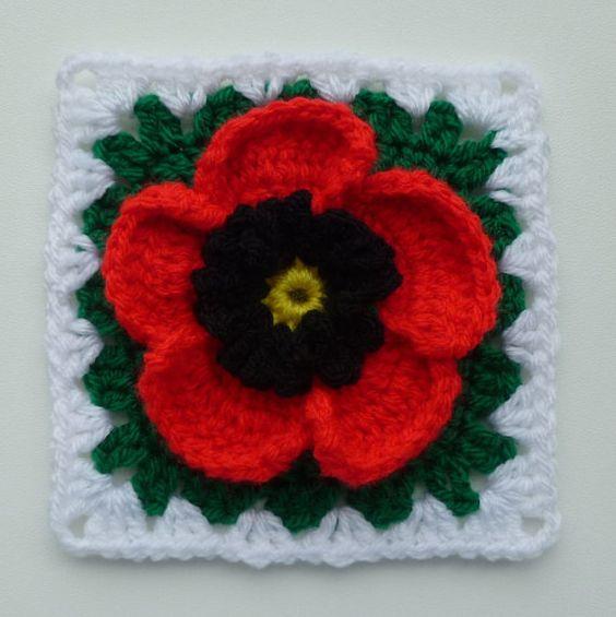 Instant Download Crochet PDF pattern - Poppy in granny ...