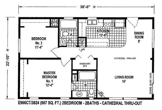 Small modular homes floor plans floor plans for double for Small double wide floor plans