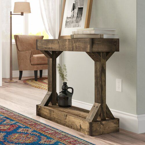 Oleary Solid Wood Console Table In 2021 Wood Console Console Table Wood Console Table Solid wood console table