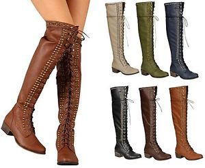 Details about Breckelle's ALABAMA-13 Women's Over Knee High Lace ...