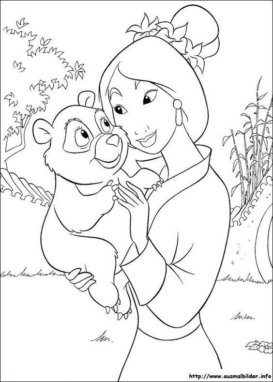 Mulan malvorlagen   Coloring Pages, Ausmalbilder   Pinterest   Mulan