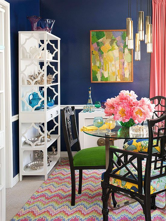 Decorating with bold colors house tours get the look for Bold dining room colors