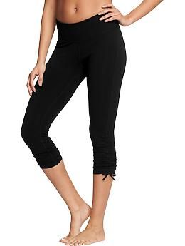 Women's Old Navy Active Cinch-Tie Yoga Capris | Old Navy | Fit ...