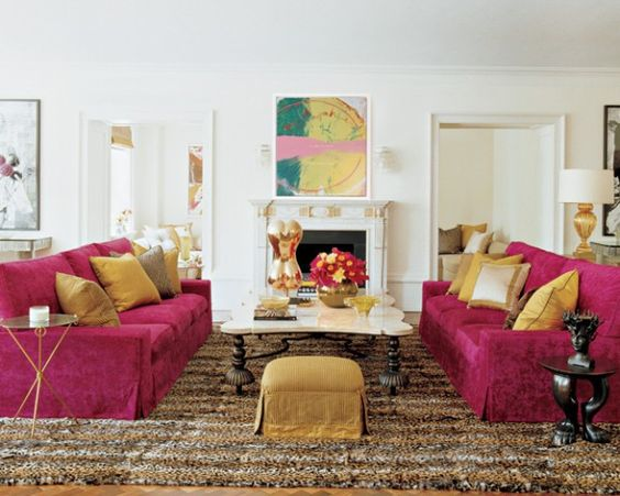 Pink with leopard rug