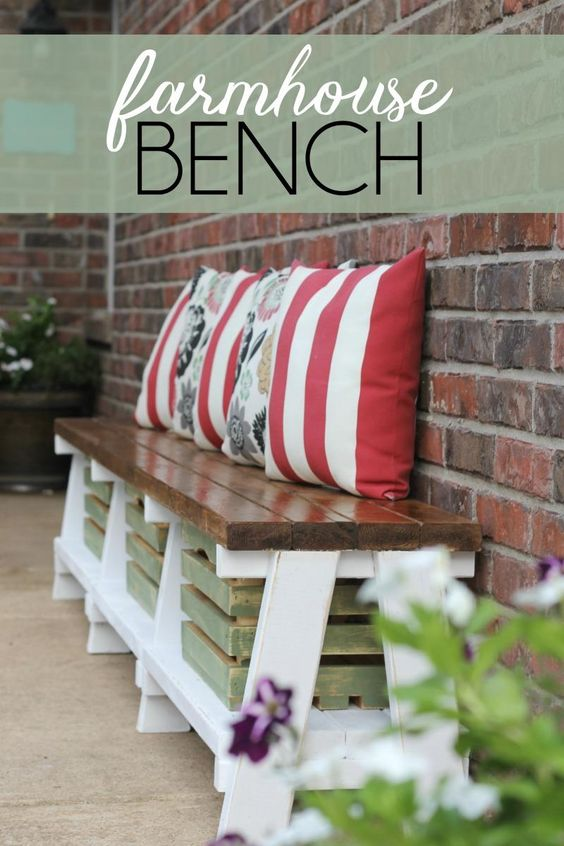 Want to add more seating (and storage) to your outdoor space? Create a DIY…