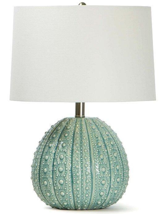 Sanibel Sea Urchin Ceramic Accent Lamps Beach House Furniture Luxury Beach House Beach House