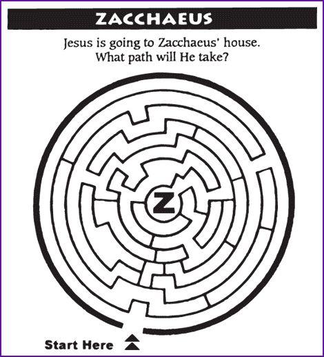 zacchaeus bible puzzles images reverse search jesus zacchaeus coloring page