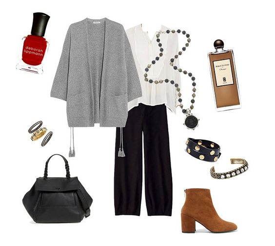 This outfit was inspired by a woman I noticed on the street. It was a simple and comfortable look, yet very chic. | une femme d'un certain âge: