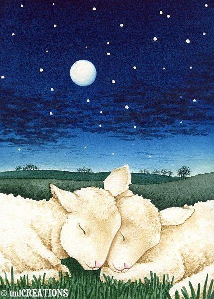Sleeping Lambs by TracyLizotteStudios: