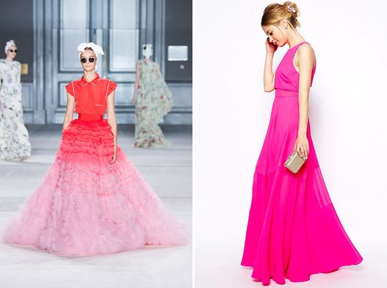Make a statement in a floor-length dress.
