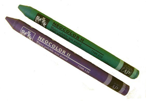 Caran D'Ache Neocolor II Zeer goede oliepastels, die ook in water  oplosbaar…