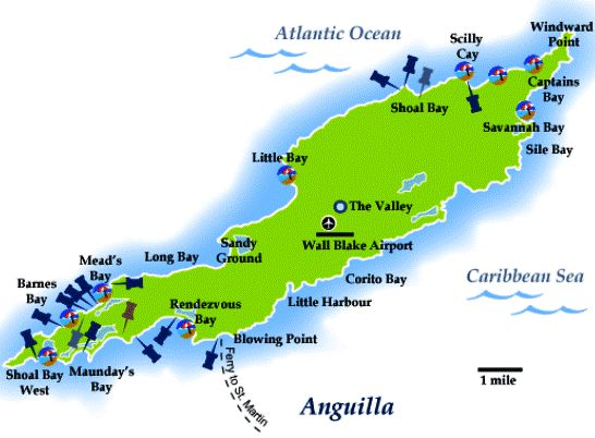 Map of Anguilla Island Countries Insider Pinterest Maps and