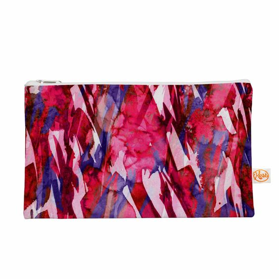 """Ebi Emporium """"Frosty Bouquet 5"""" Maroon Abstract Everything Bag"""