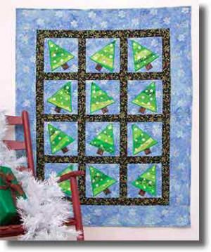 Tipsy Trees  Quilt Pattern by Linderella