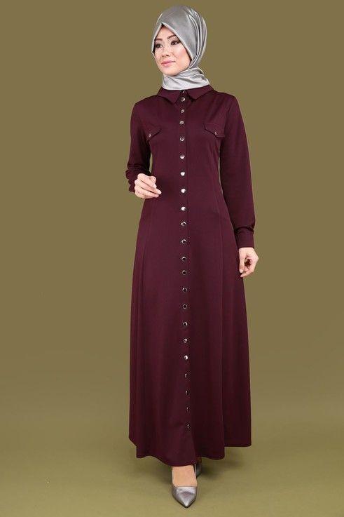 Buyuk Beden Citcitli Elbise Ferace Cng2834 Koyu Bordo Moda Stilleri The Dress Kiyafet