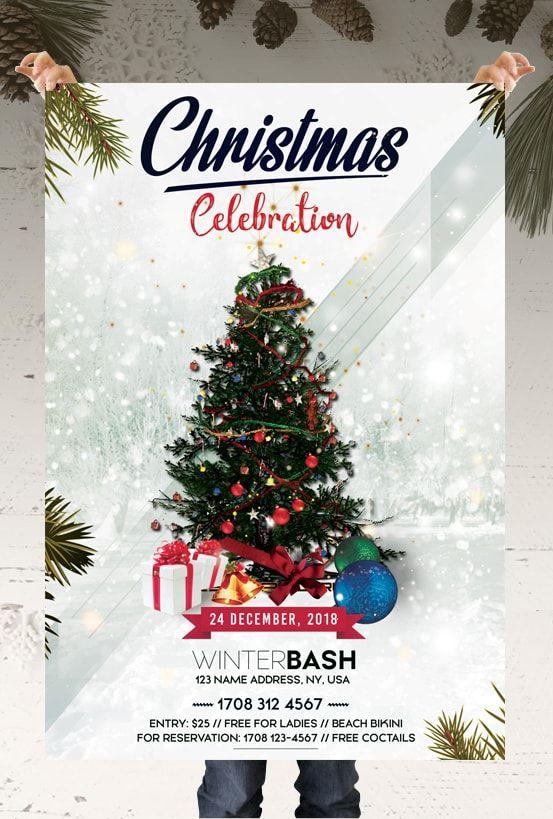 Christmas Celebration Free Psd Flyer Template Pixelsdesign Free Christmas Flyer Templates Christmas Flyer Template Christmas Templates Free