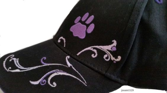 Purple Paw Embroidered Adjustable Baseball Cap Hat - Helps the ASPCA #AnimalRescue