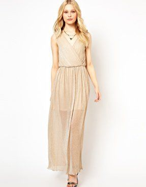 #asos                     #love                     #Love #Metallic #Wrap #Detail #Maxi #Dress #asos.com                          Love Metallic Wrap Detail Maxi Dress at asos.com                              http://www.seapai.com/product.aspx?PID=1357416