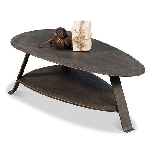 Sarreid Moleskin Gray 24 Inch Pebble Coffee Table 40742 Table