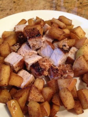 Pork Tenderloin with Cinnamon Apples! Click on it for the recipe!