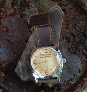 Vintage Panerai Radiomir 6154 on Bas and Lokes handmade leather watch strap