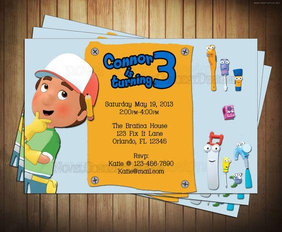 Disney Junior Handy Manny Birthday Party Invitation – Handy Manny Party Invitations